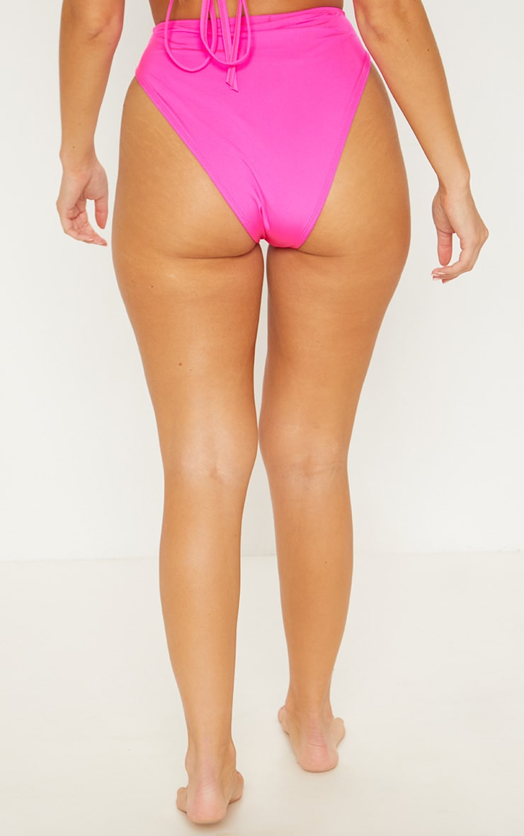 Pink Mix & Match High Waisted High Leg Bikini Bottom 4