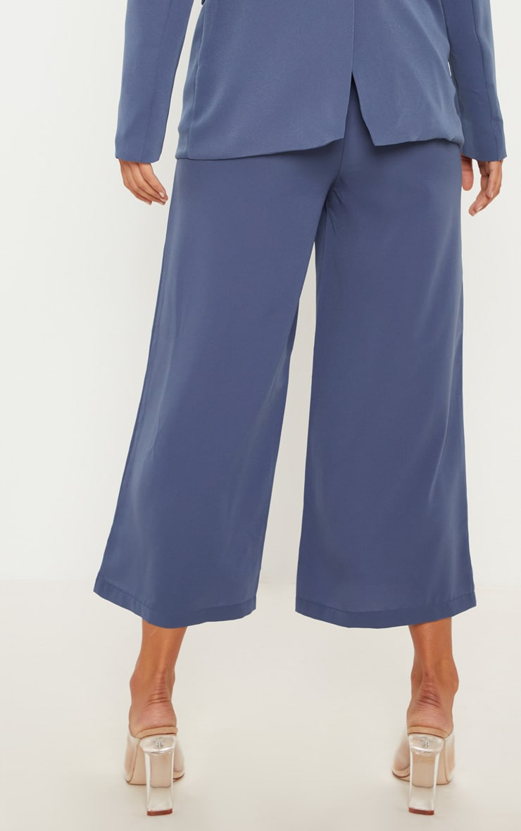 Blue Button Detail Culottes 5
