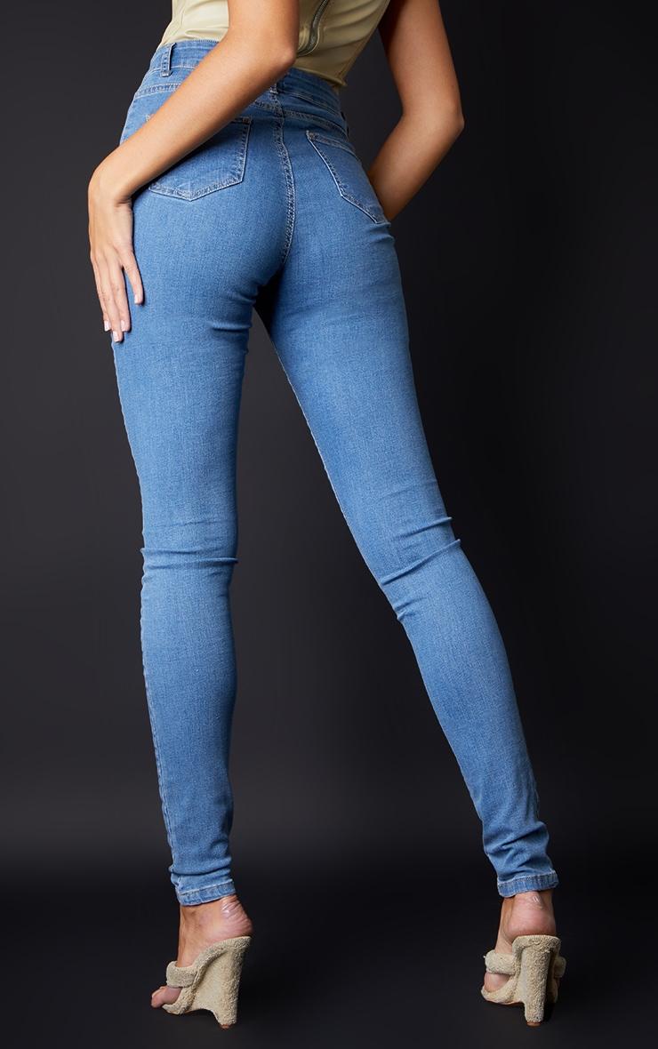 Tall Light Wash Super Stretch Skinny Jeans 3