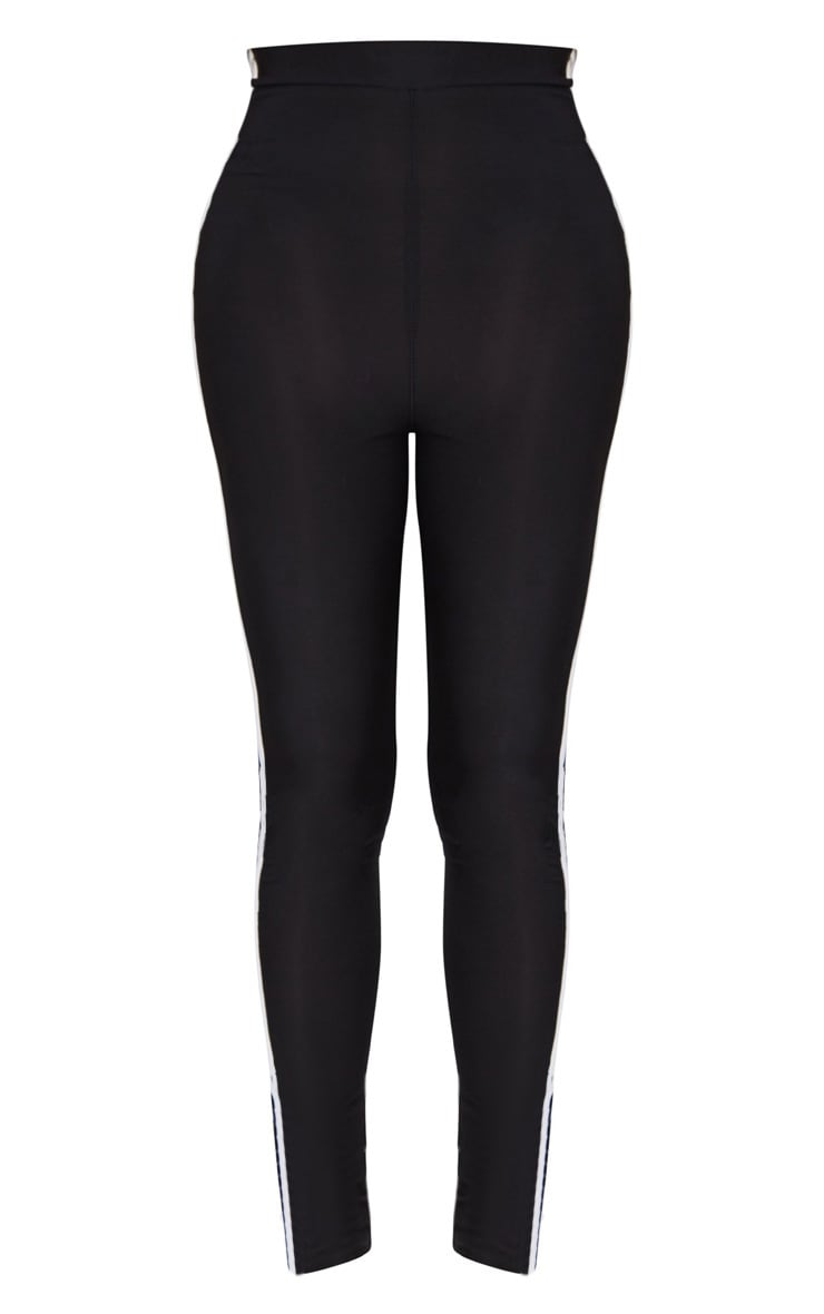 Shape Black Sports Stripe High Waisted Leggings 3