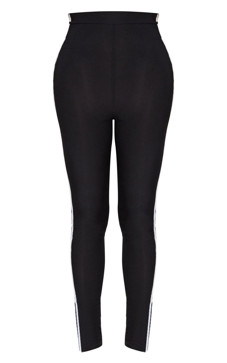 Shape- Legging taille haute noir à bandes sport 3