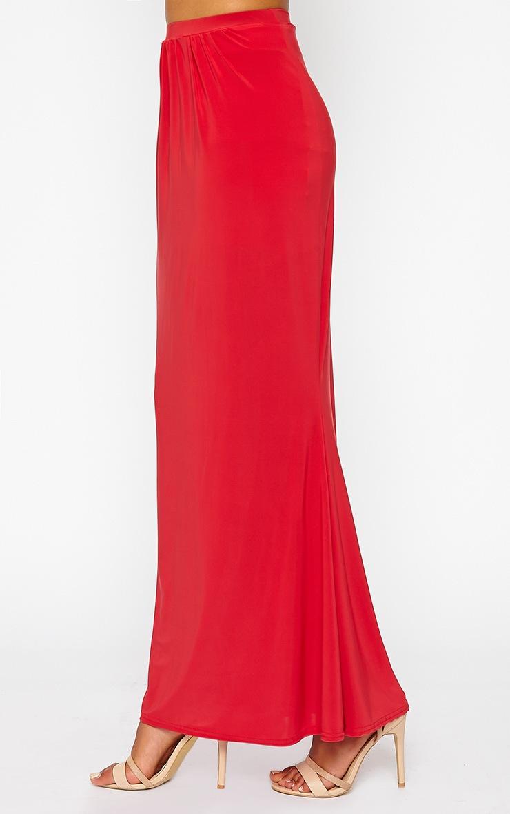 Dalia Red Maxi Skirt 3