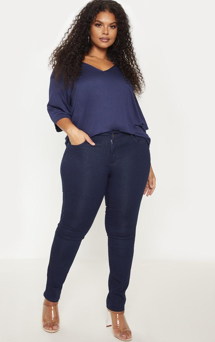 Plus Mid Wash Pocket Detail Skinny Jeans 1