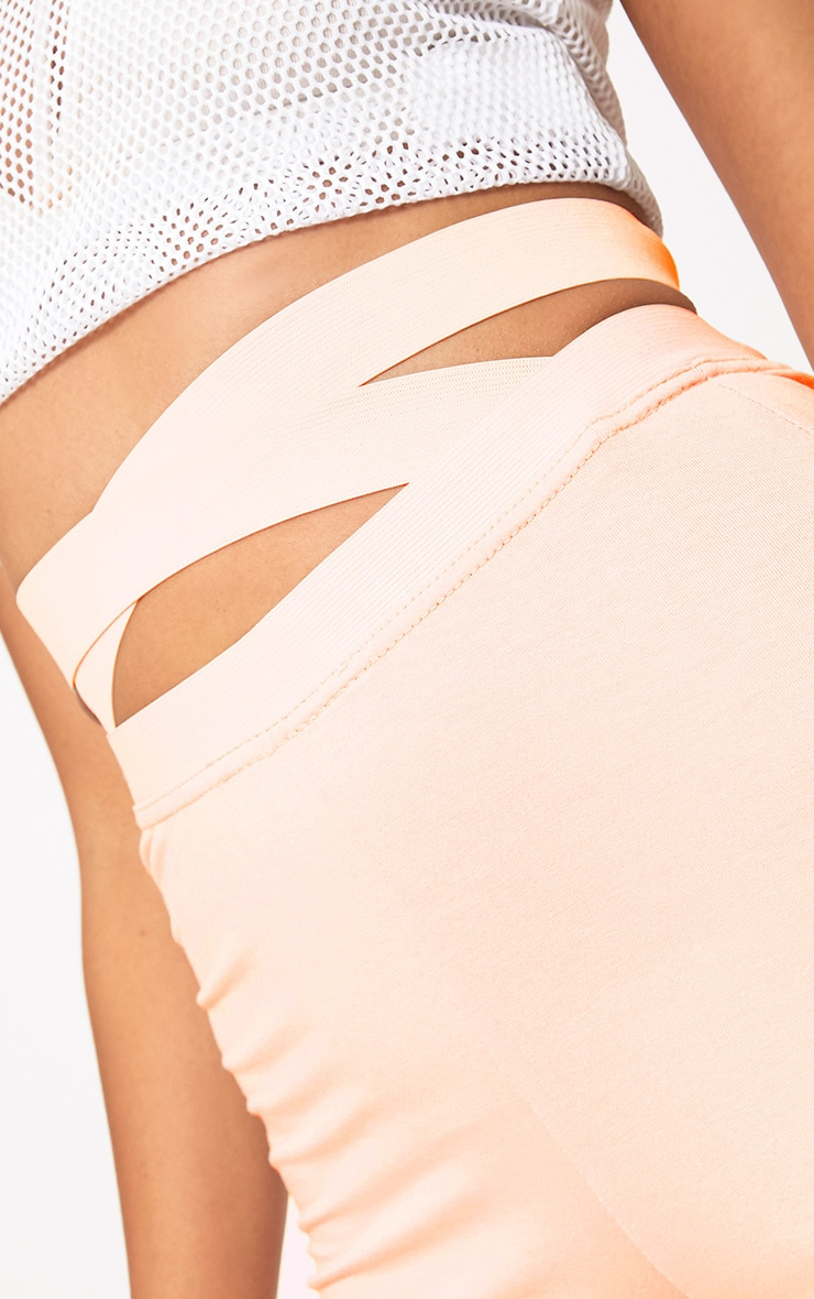 Nude Strappy Waist Cycle Shorts 6