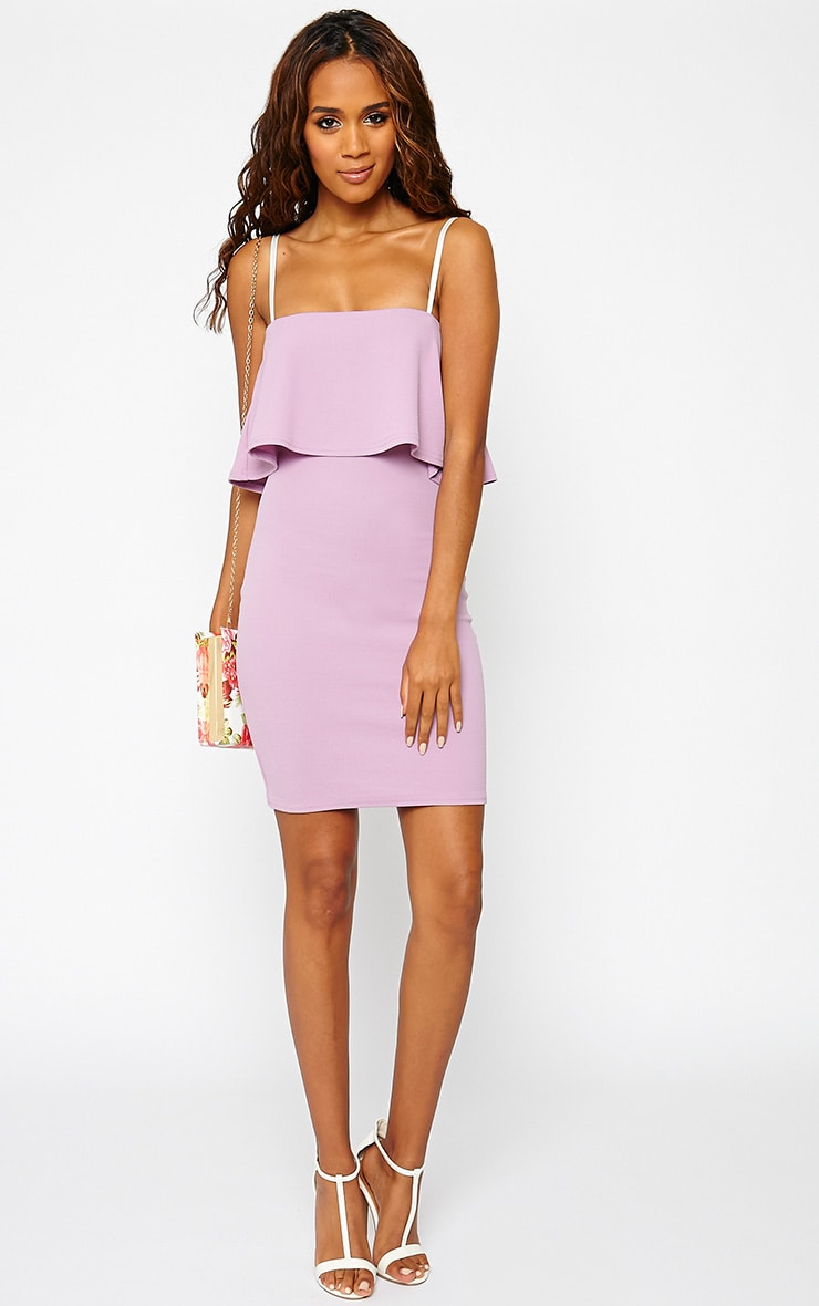 Hari Mauve Frill Front Mini Dress 3