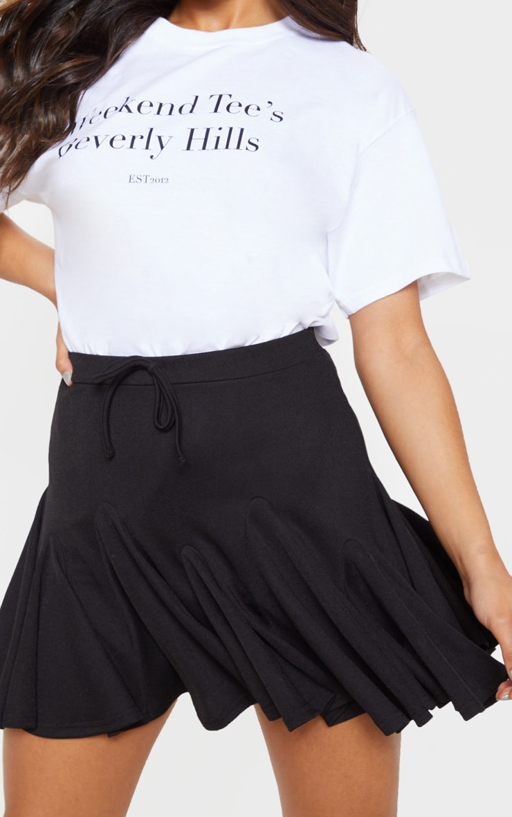 Black Full Hem Skater Skirt 5