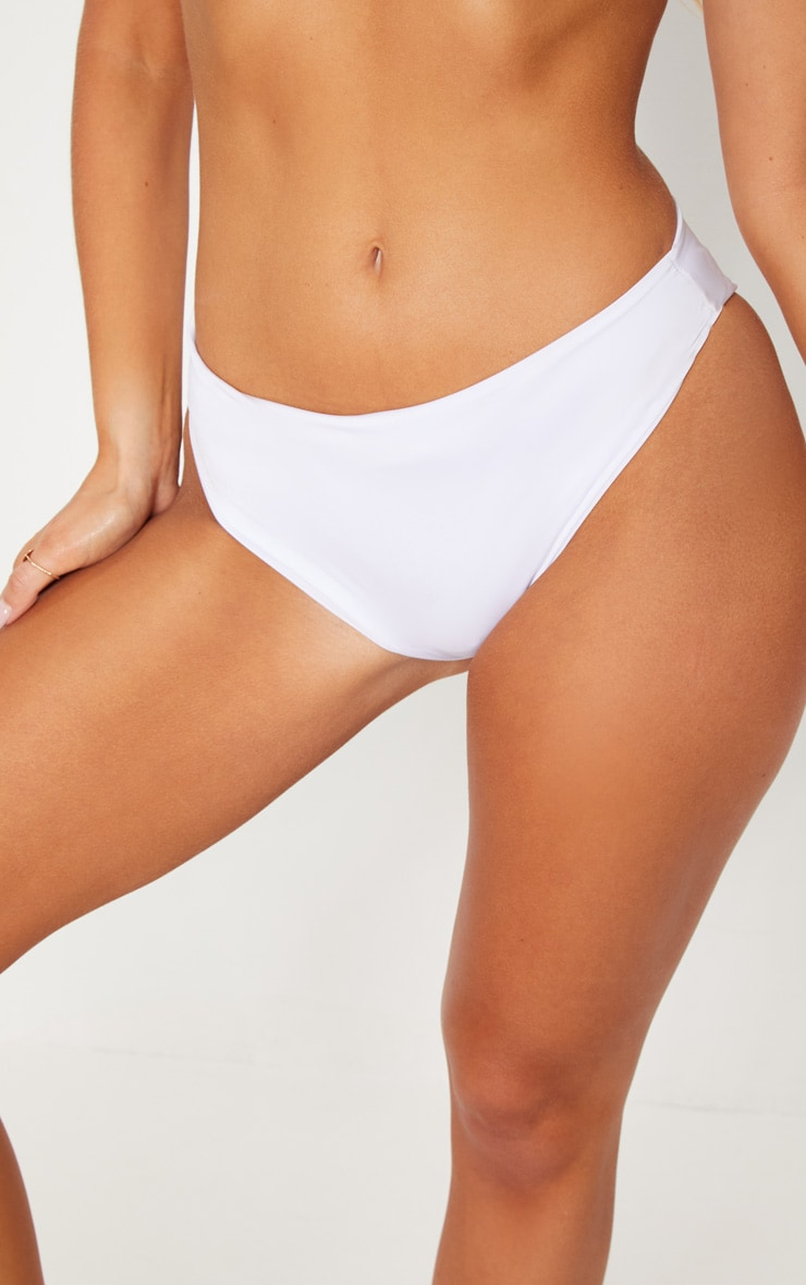 White  Mix & Match Cheeky Bum Bikini Bottom 6