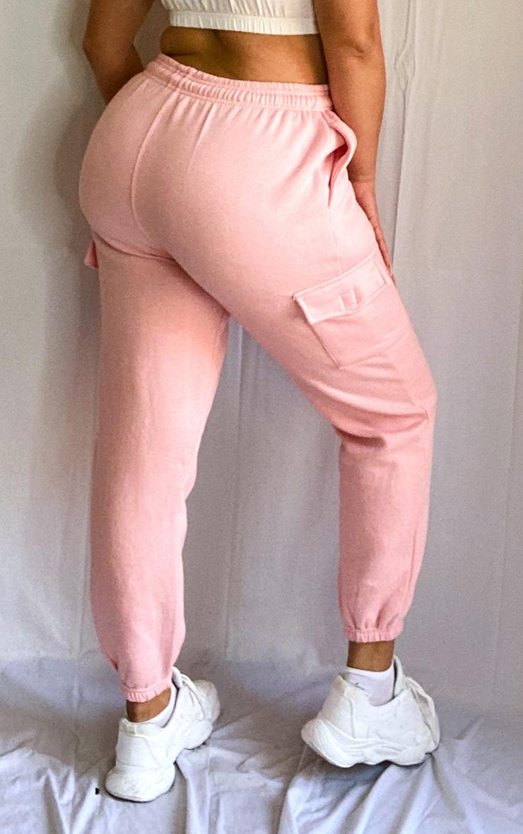 Plus Baby Pink Pocket Detail Joggers 3