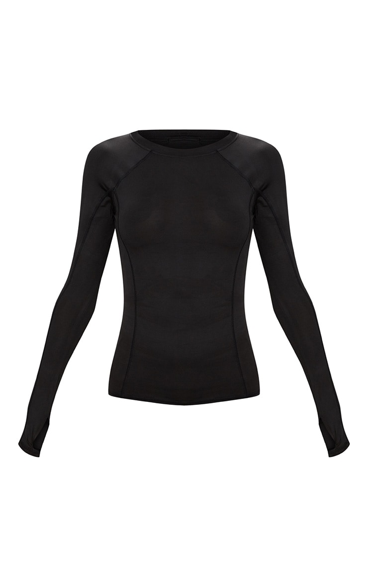 Black Long Sleeve Gym Top 4