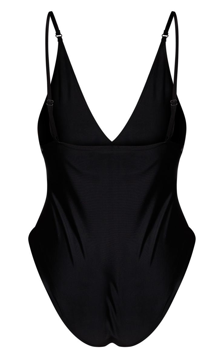 Plus Black Basic Low Scoop Swimsuit 6
