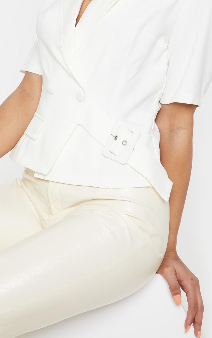 Cream Short Sleeve Military Shirt 5