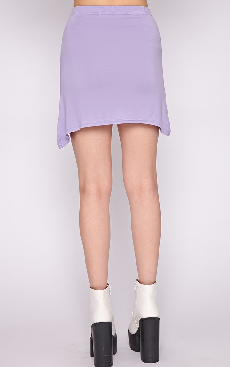 Erika Lilac A Line Mini Skirt  2