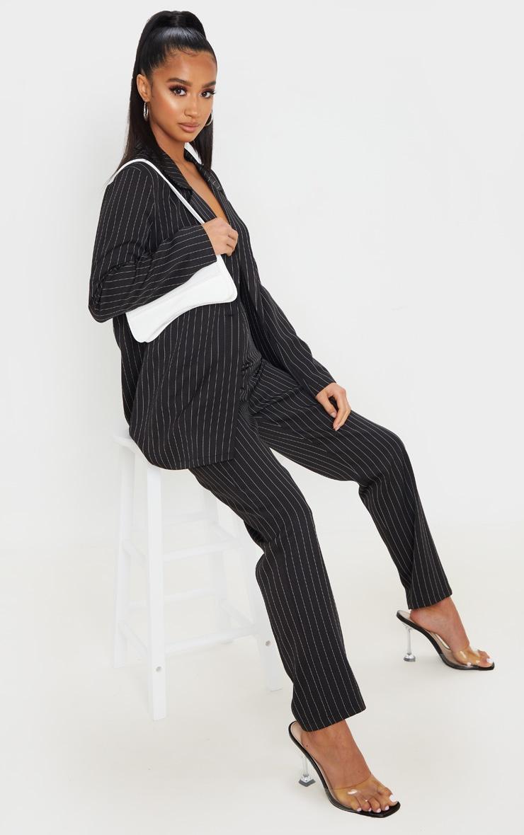Petite Black Oversized Pinstripe Blazer 4