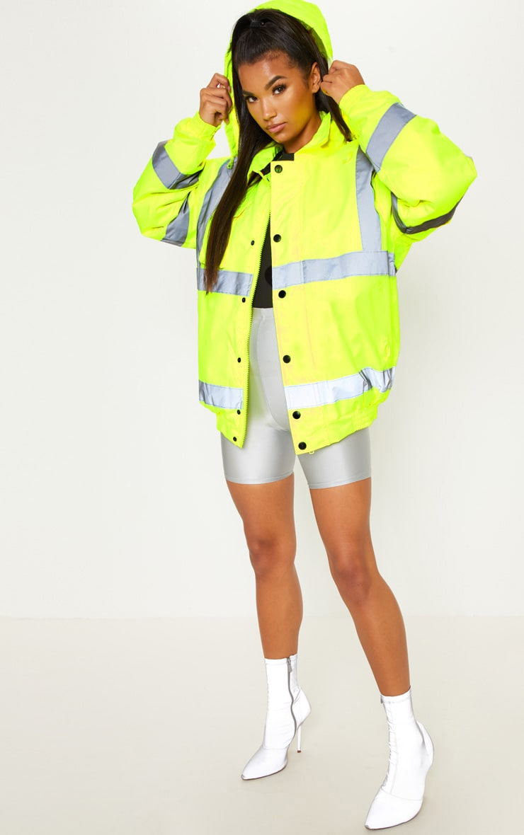 Neon Yellow High Vis Coat 4