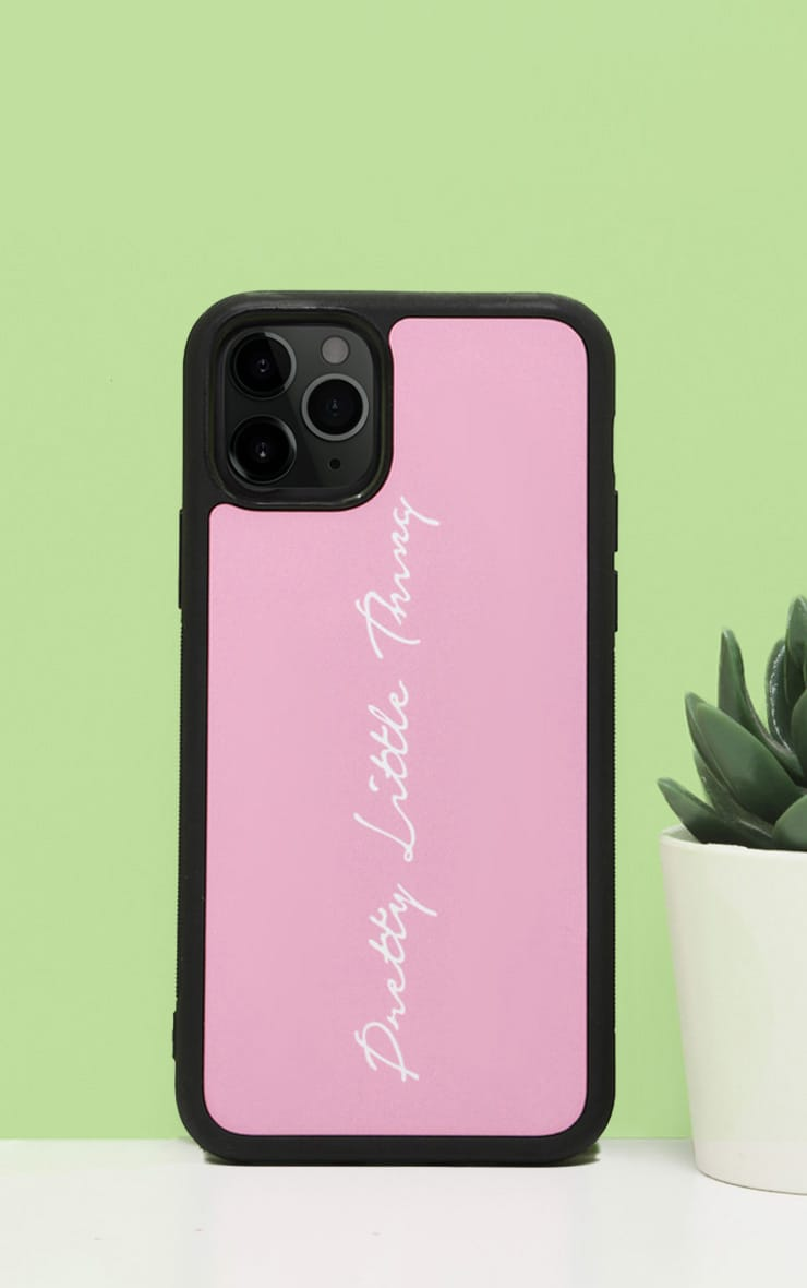 PRETTYLITTLETHING - Coque iPhone 11 Pro Max rose tendre à écriture 1