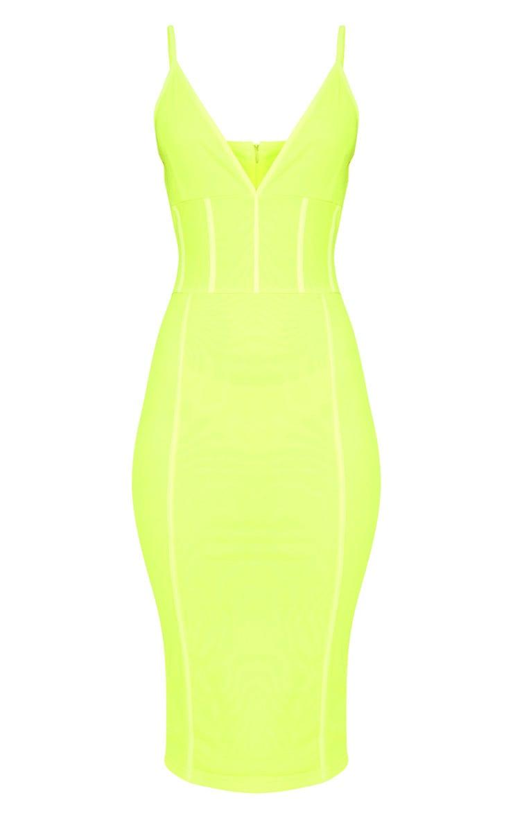 Neon LimeBinding Midi Dress 3
