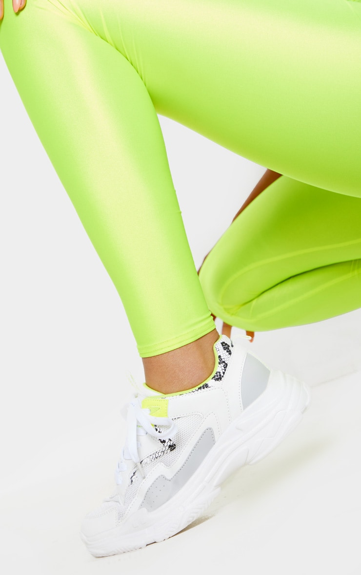 White Neon Snake Sneakers 2