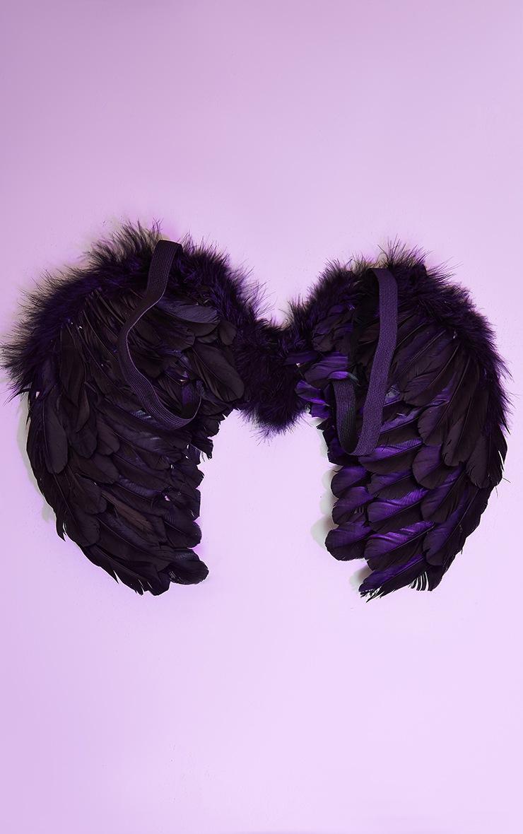 Mini Black Feather Angel Wings 2
