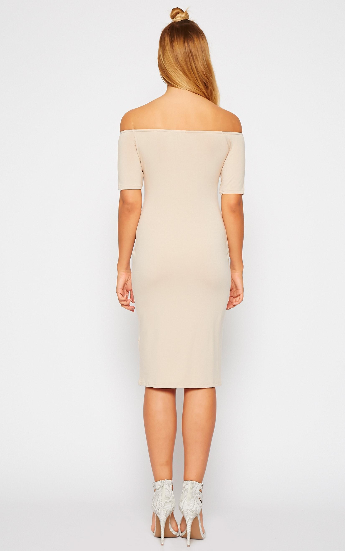 Caty Stone Jersey Bardot Midi Dress 2
