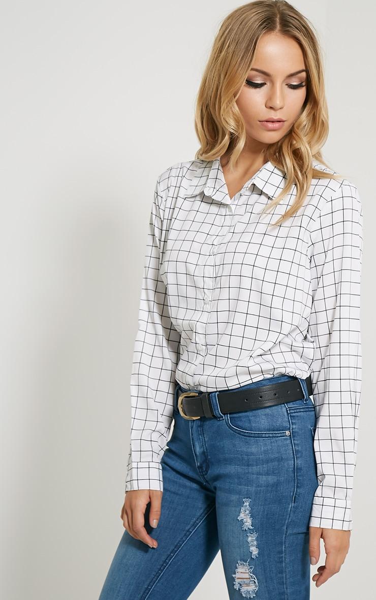 Flora White Check Shirt 4