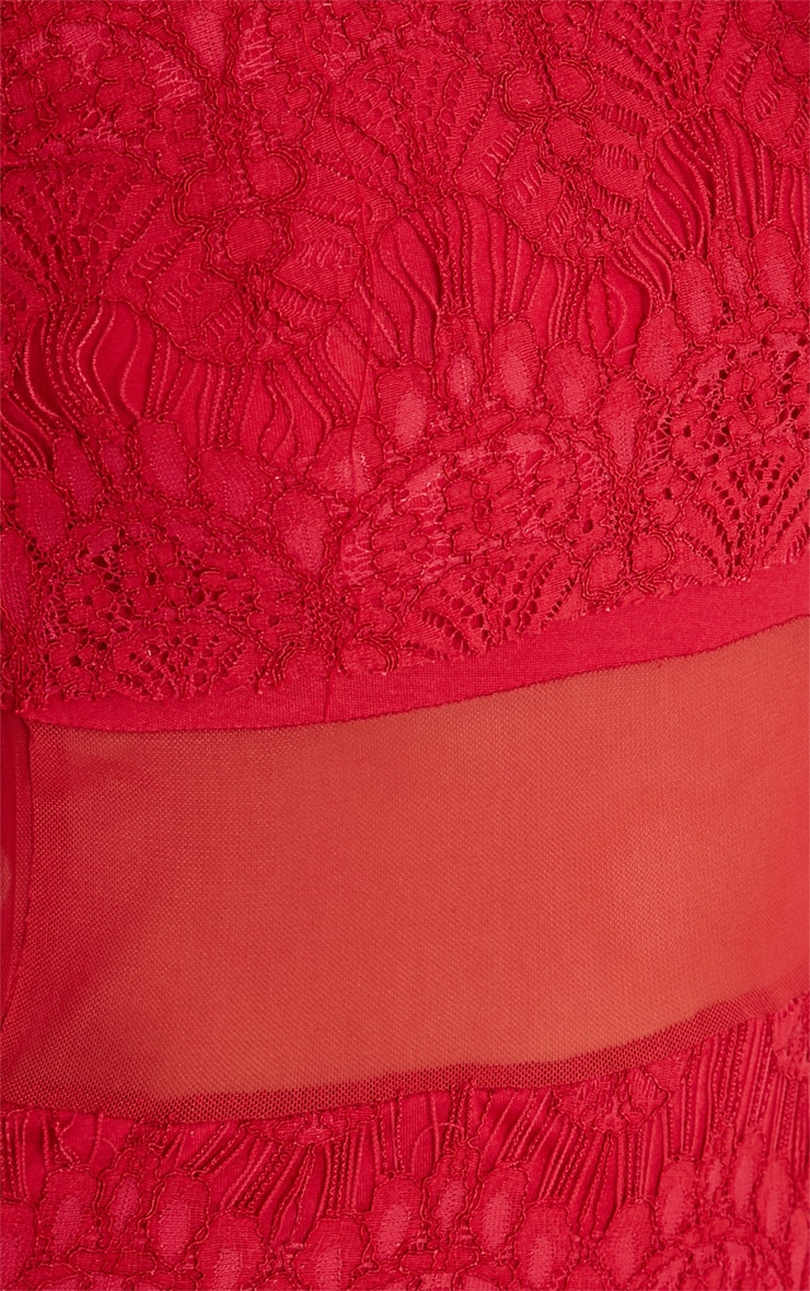 Bailey Red Premium Lace Mini Dress 6
