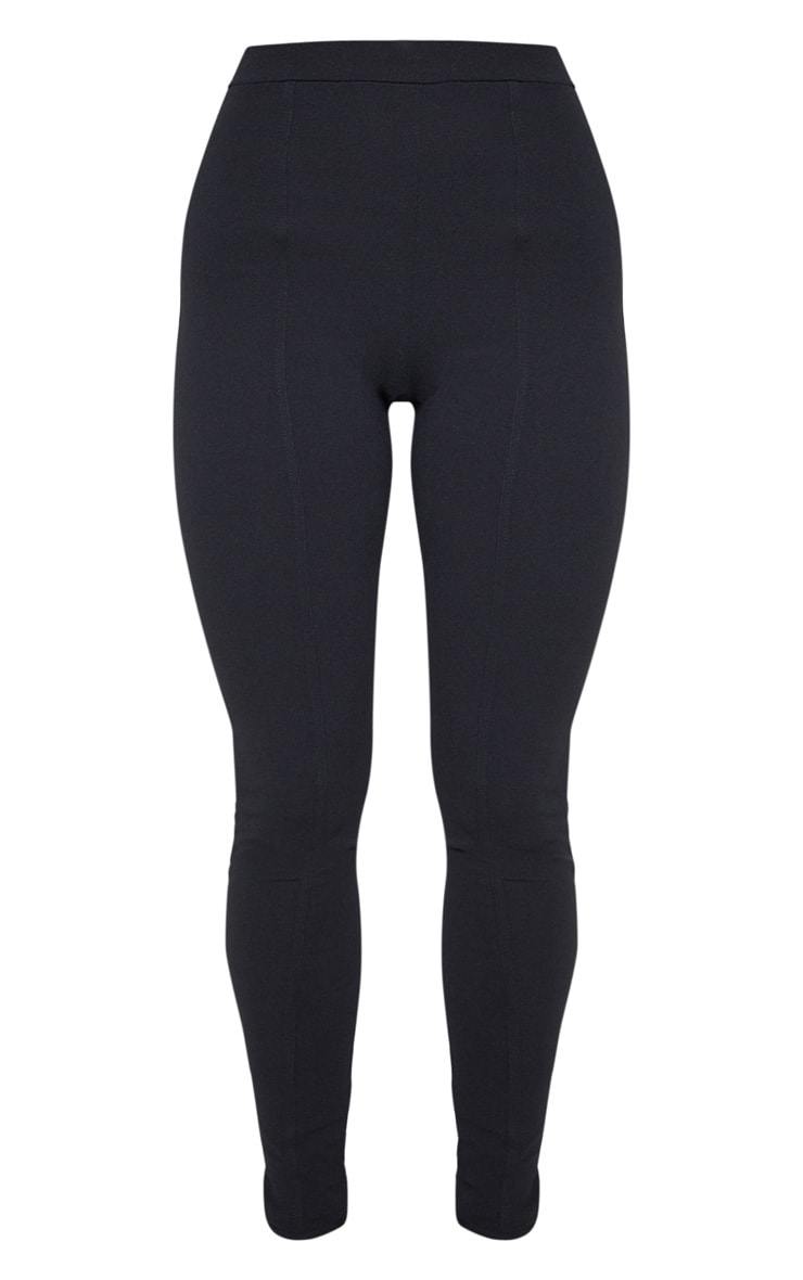 Black High Waisted Straight Leg Pants 4