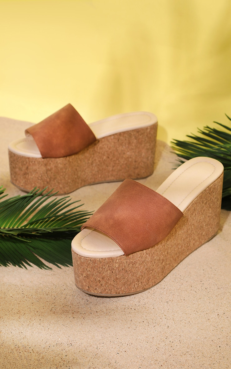 Natural Triple Sole Flatform Espadrille Sandal 3
