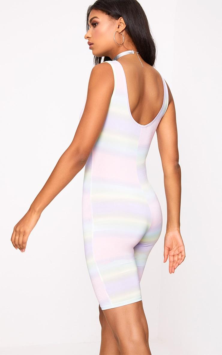 Rainbow Stripe Unitard 2
