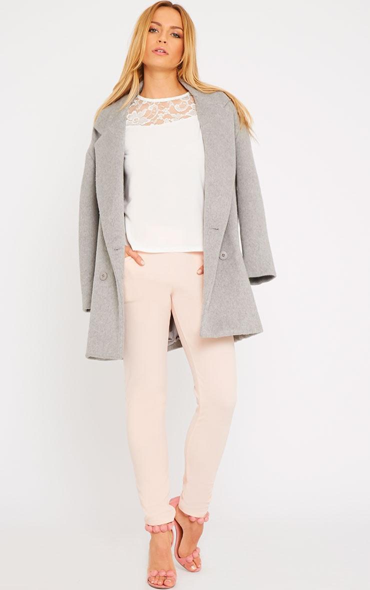 Loretta White Long Sleeve Lace Panel Top 5