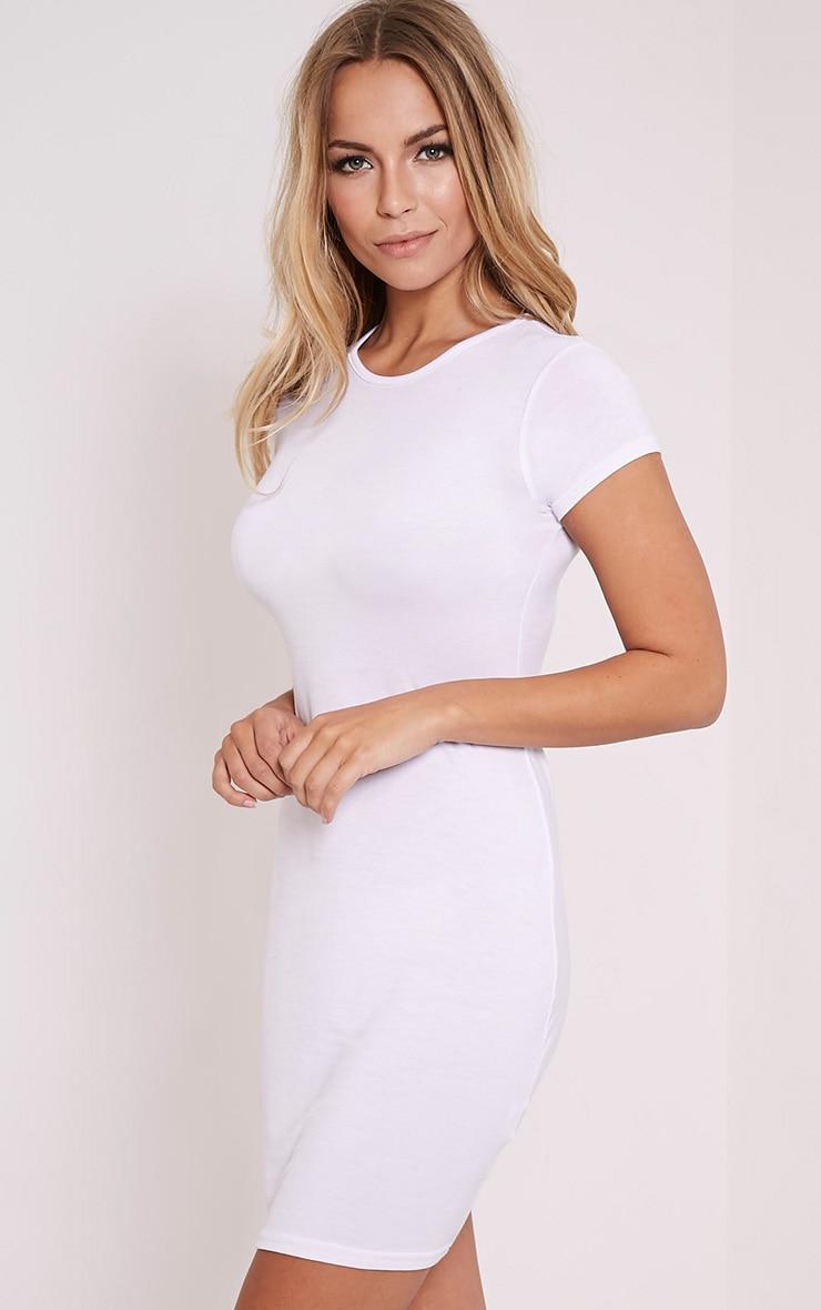 Basic White Jersey Dress 3