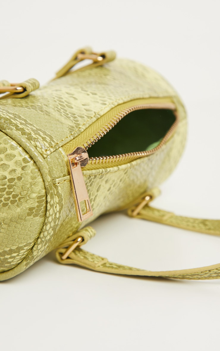 Neon Lime Snake Mini Bowling Bag 3