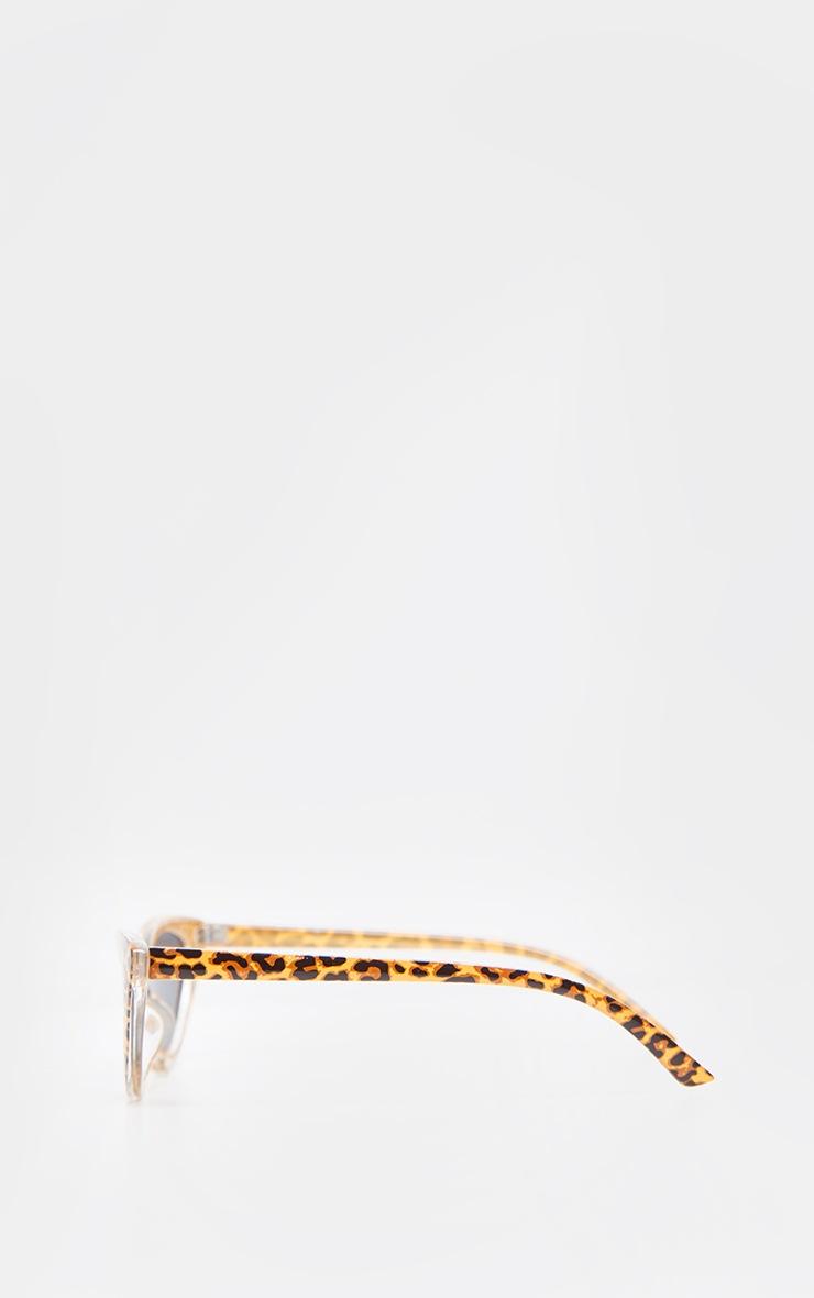 Tan Leopard Cat Eye Sunglasses 3