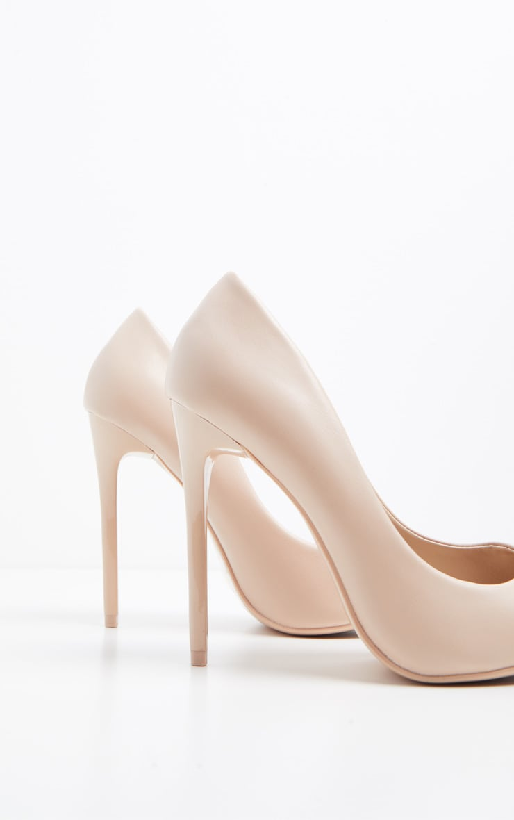 Nude Stiletto Court Shoes 4