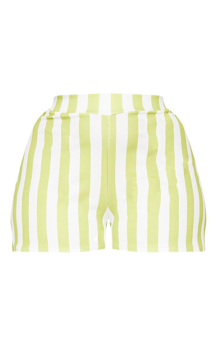 Plus Lime Stripe Shorts 3