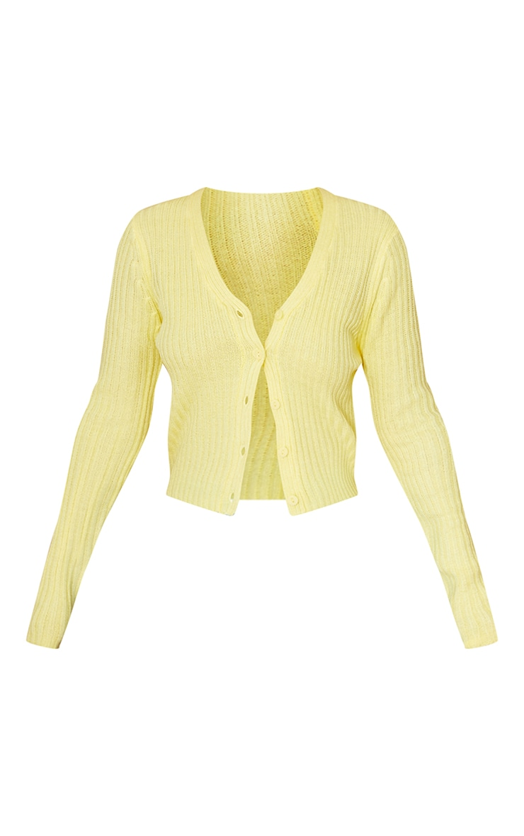 Yellow Button Front Cardigan 5
