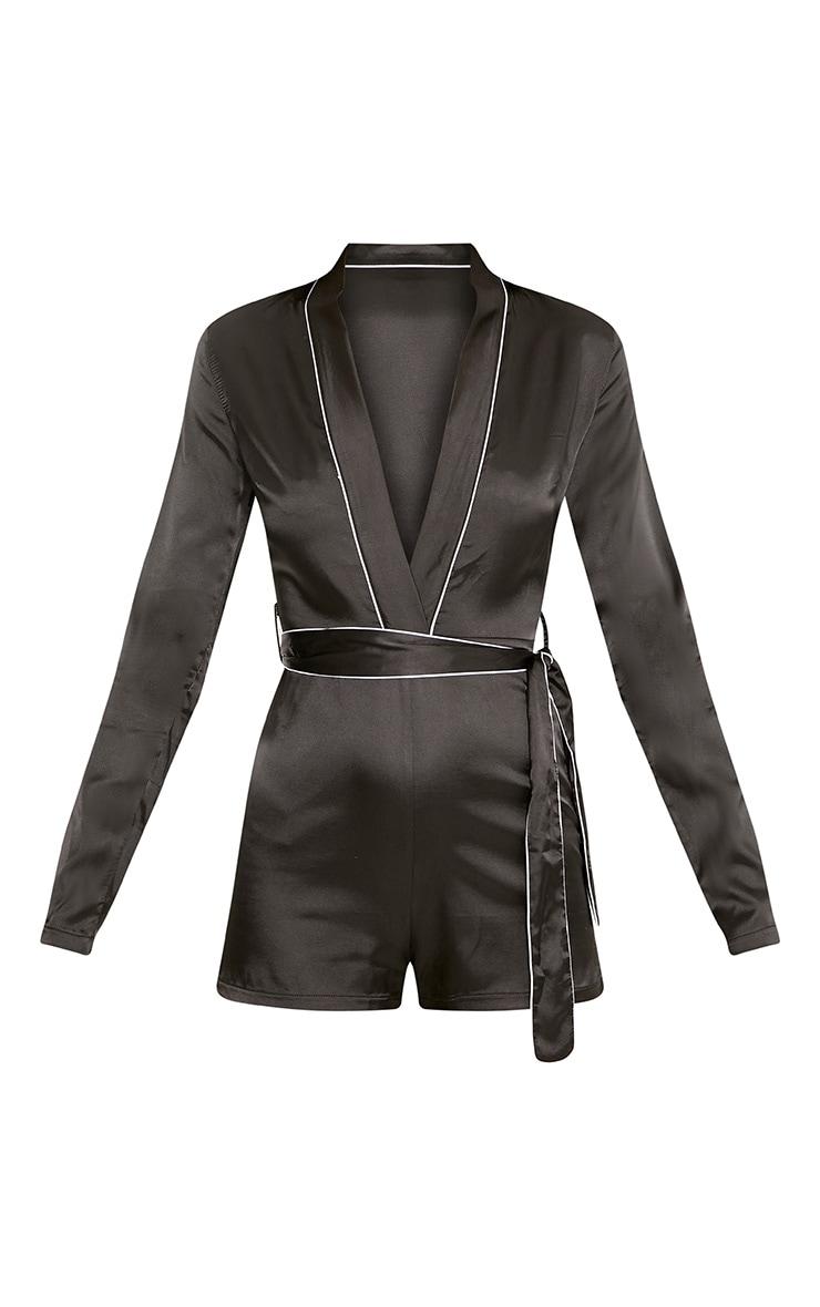 Alisha Black Pyjama Style Playsuit 3