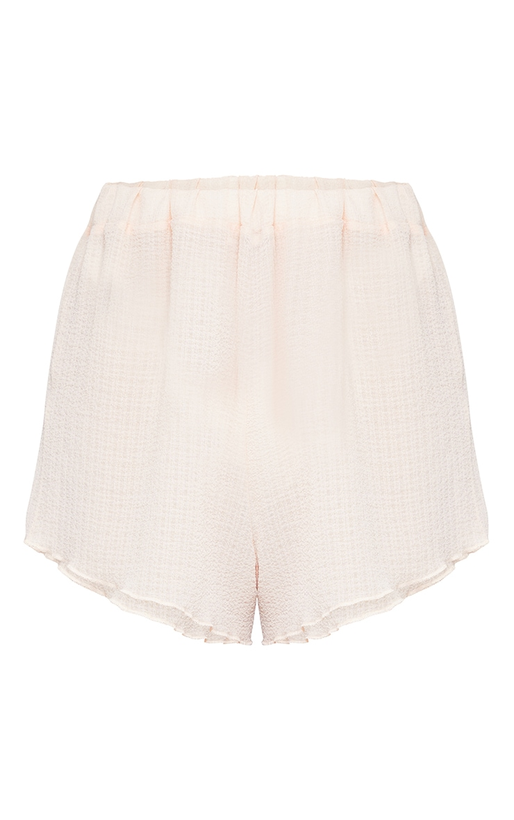 Peach Crinkle Textured Floaty Beach Shorts 6