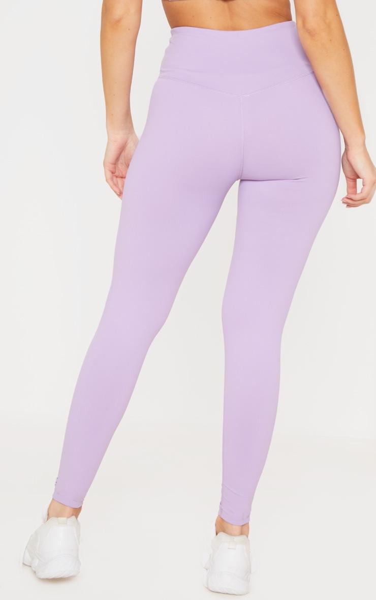 Lilac High Waist Cropped Gym Legging 3