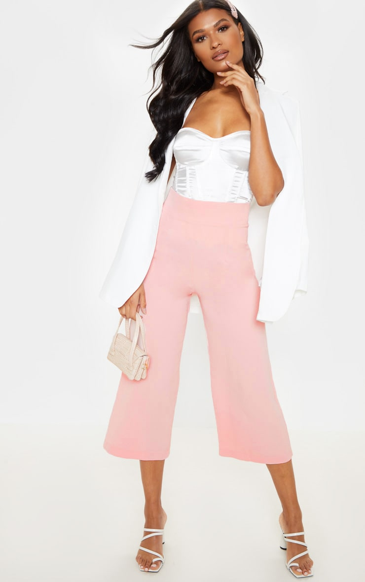 Tazmin Blush High Waisted Culottes 1