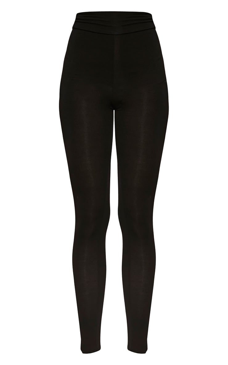 Dabria Black High Waisted Jersey Leggings 5