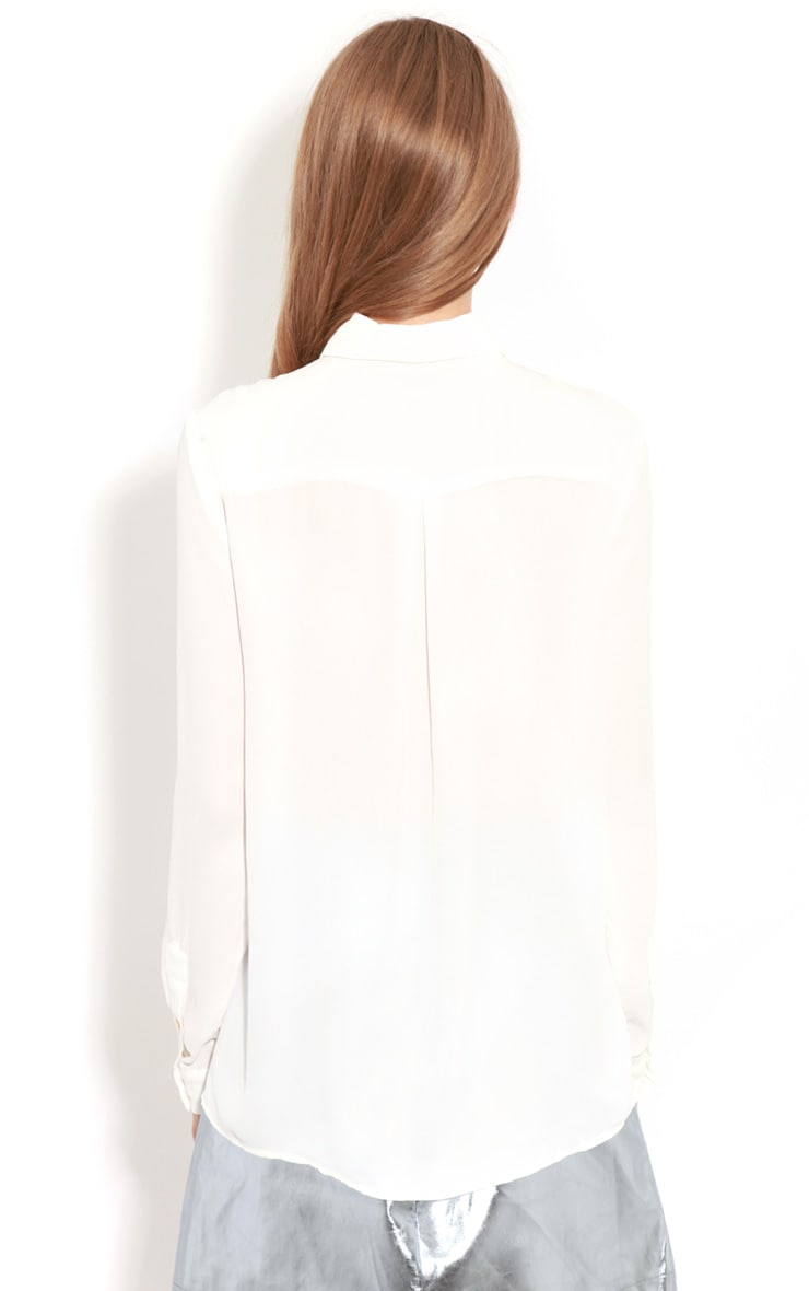 Eboni White Chiffon Shirt 2