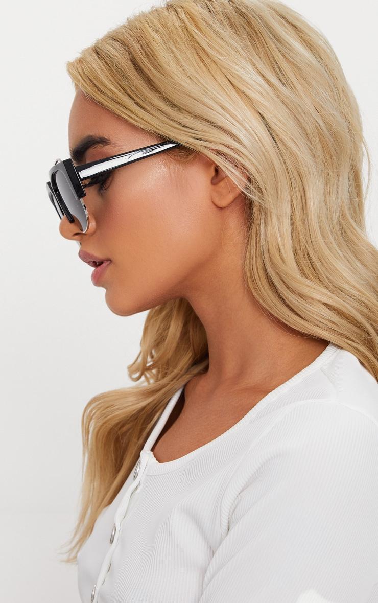 Black Slanted Sunglasses 2