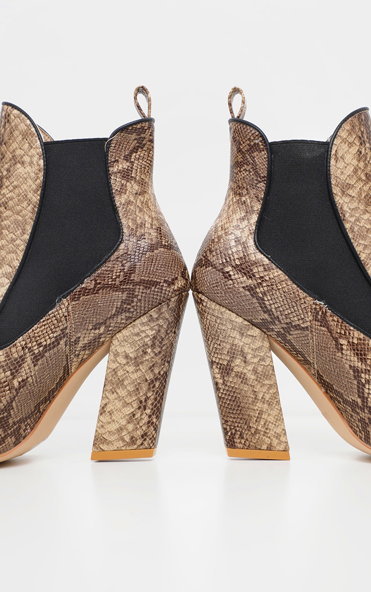 Snake Western Chelsea Ankle Boot 4