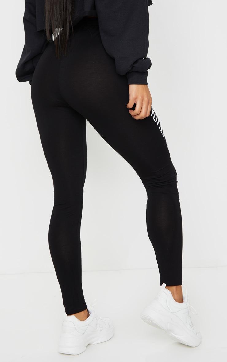 PRETTYLITTLETHING - Legging noir à slogan 3
