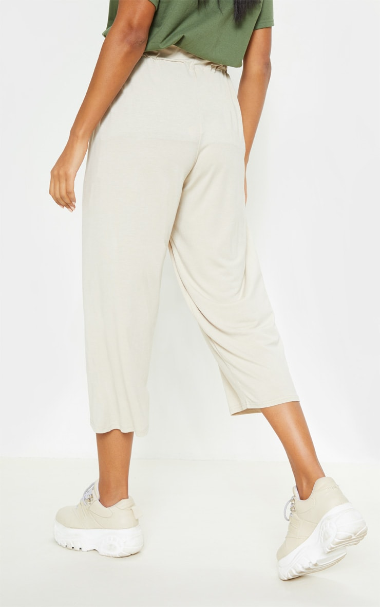 Stone Narrow Leg Tie Detail Culotte 4