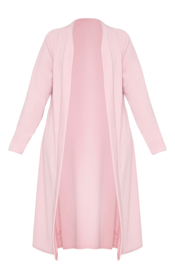 Plus Dusty Pink Crepe Maxi Duster Jacket 3