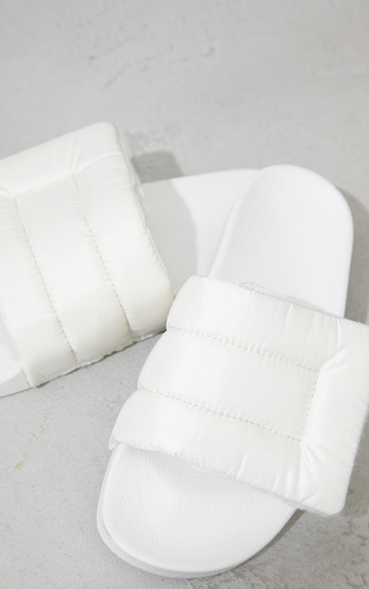 Cream Nylon Padded Velcro Sliders 4