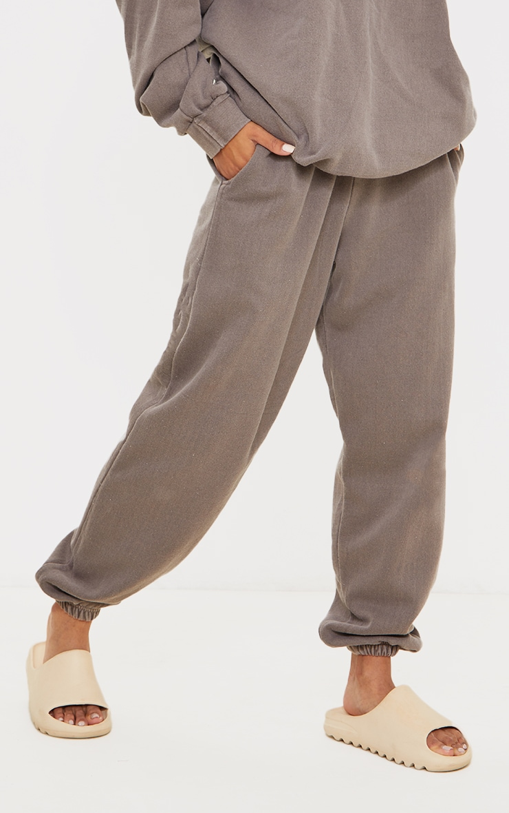 Recycled Mocha Washed Joggers 2