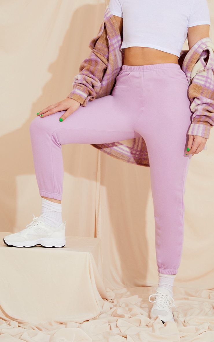 Lilac Basic Slim Fit Joggers 1