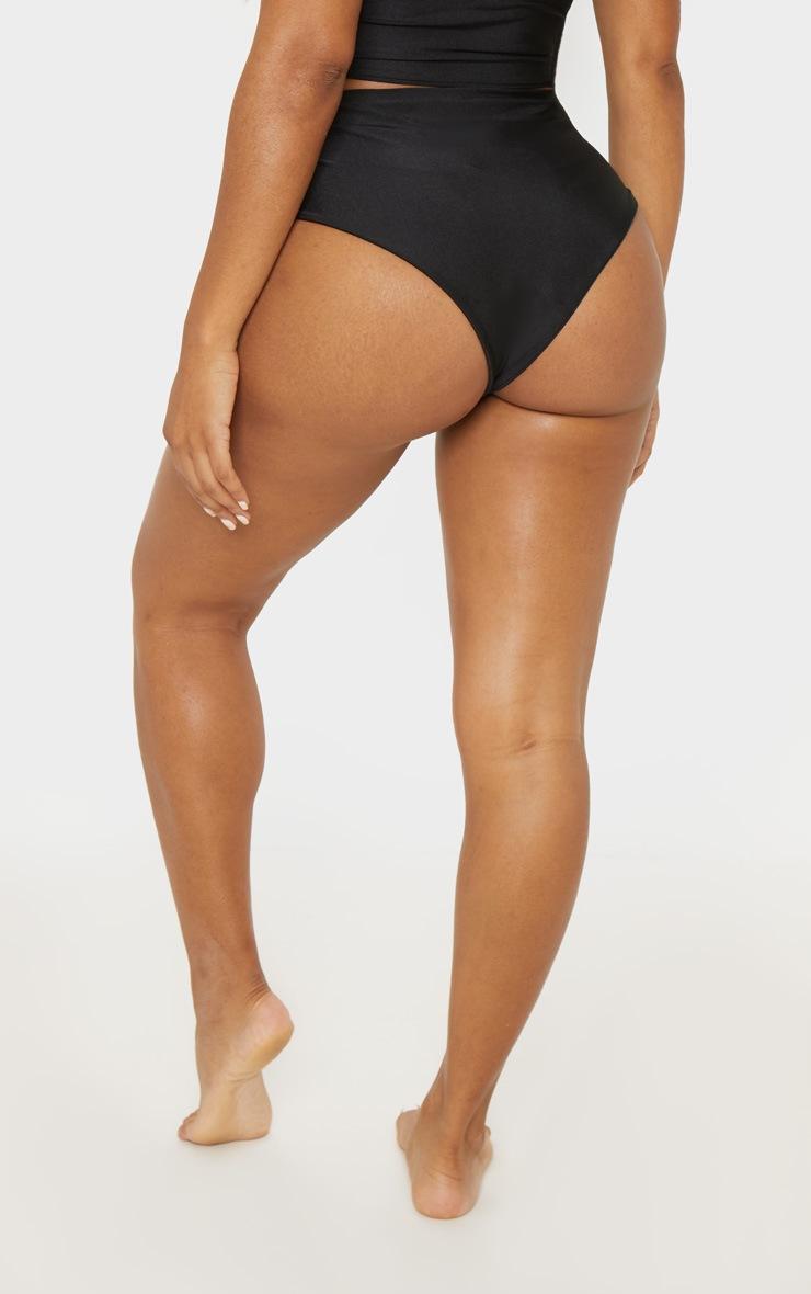 Shape Black Buckle Waist Bikini Bottom 4
